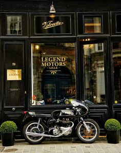 J would have a motorcycle shop and I'd have a little storefront like this.... Flying Machines and Soda-Fountain Dreams