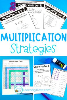 Multiplication charts are perfect for introducing multiplication thinking strategies to your year 3 students. Let them make their own booklet to give them the strategies they need to be successful with their multiplication facts. #multiplication #thinkingstrategies
