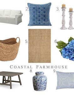My go-to Coastal Farmhouse items to give any room that coastal farmhouse feel.