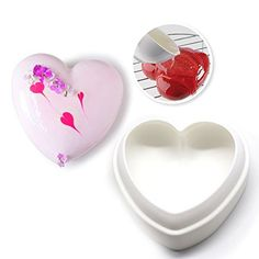 Silicone Heart Cake Fondant Mold Chocolate Cookies Bread Mould Baking Pan DIY Mousse Cake Baking Decorating Tools Bakeware