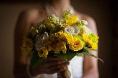 Yellow & Green Wedding Bridal Bouquet {Joseph Delgado Photography} - mazelmoments.com