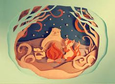 Image result for cut paper illustration