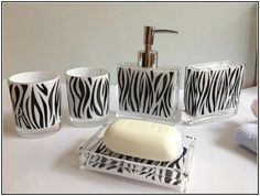 Zebra Print Bathroom Accessories Uk