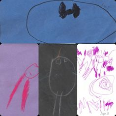 A combination of art from my 3 year old students. They each used Ovals in different forms.