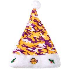 Los Angeles Lakers Camo Santa Hat - Gold/Purple