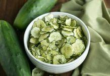 Salt and Vinegar Cucumber Chips