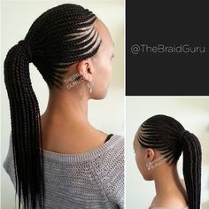 "221 Likes, 8 Comments - TheBraidGuru (@thebraidguru) on Instagram: ""My work! Cornrow ponytail. Appointments available in Atlanta. Book online at www.thebraidguru.com…"""