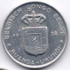 Belgian Congo + Ruandi Urundi 1 Franc 1958 op eBid België