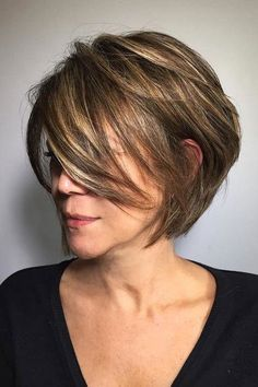 These Short Hairstyles Flatter At Any Age: Stacked Bob - good grow out!