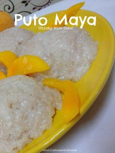 Puto Maya Recipe - Sticky rice cooked in coconut milk. Great when paired with ripe mangoes and hot chocolate drink.