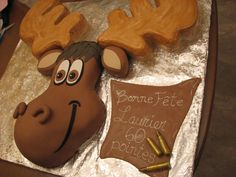 Cupcakes decoration for boys gingerbread man 46 Best ideas Kids Christmas Ornaments, Christmas Moose, Christmas Cake Decorations, Fondant Toppers, Fondant Cakes, Cupcake Birthday Cake, Cupcake Cakes, Moose Cake, Camping Cakes