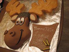 Moose cake fondant orignal gâteau