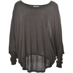Batwing top. Gray too. I love the way batwing tops look on me. On anyone. So comfy. -DH