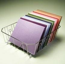 dish drainer - organizer for scrapbook paper