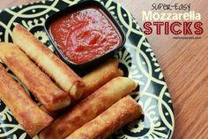 Super-Easy Mozzarella Sticks Recipe - Just 3 Ingredients