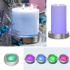 Make your GloLite candle even more amazing! Place the NEW Color Changing Candle Base under a GloLite jar or pillar for a continuous, color-changing display.