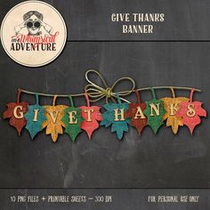 Thanksgiving banner printable collage sheet by AWhimsicalAdventure Thanksgiving Banner, Thanksgiving Projects, Thanksgiving Preschool, Thanksgiving Parties, Thanksgiving Decorations, Autumn Decorations, Autumn Crafts, Holiday Crafts, Printable Banner