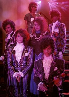 Prince and his musical cohorts