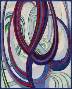František Kupka, Linien, Flächen, Raum, 1911-12, Öl auf Leinwand, 82 x 62 cm, Museum Kampa, Jan and Mleda Mladek, Collection, Photo: Ondrej Polák / Štepàn Aussenberg, © VG Bild-Kunst, Bonn 2009.