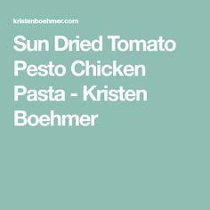 Sun Dried Tomato Pesto Chicken Pasta - Kristen Boehmer Tomato Pesto Chicken, Basil Chicken, Chicken Pasta, Sun Dried Tomato Sauce, Dried Tomatoes, Paleo Zucchini Recipes, Zucchini Noodles, Food Print, Food Processor Recipes
