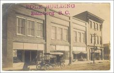 RP  Folk Building, Bamberg, South Carolina, PU-1909