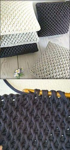 Most current Free of Charge tunisian Crochet pillow Ideas Stricken Crochet Home, Diy Crochet, Crochet Crafts, Crochet Baby, Crochet Ideas, Crochet Bag Tutorials, Crochet Mermaid, Beginner Crochet, Knitted Baby