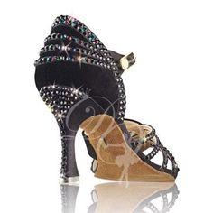 Ballroom Jewelry, Ballroom Dance Dresses, Rhinestone Shoes, Bling Shoes, Dance Fashion, Fashion Shoes, Dance Gear, Baile Latino, Salsa Shoes