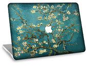 "Apple Macbook Air 11"" 13""  Decal Skin w/  Apple Cutout - Van Gogh Blossoming Almond Tree"