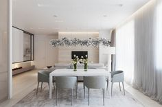 Glitter! Confetti! This suspension lamp definitely brings an irresistible pop of excitement to the subdued dining room area.