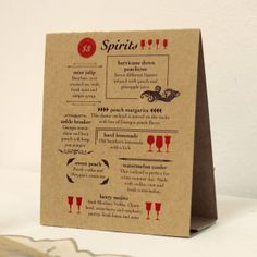 Menu Stands Restaurant Table Tents Table Stands And Card Holders - Bar table tents