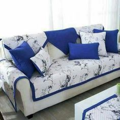 Diy Sofa Cover, Sofa Cushion Covers, Chair Covers, Cushions On Sofa, Furniture Covers, Sofa Furniture, Bed Cover Design, Designer Bed Sheets, Sofa Styling
