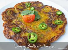 Savory Indian Pancake by myheartbeets.com
