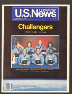 US News and World Report February 10 1986 Challengers Challenger McAuliffe Christa Mcauliffe, Space Shuttle Challenger, Donald Trump News, February 10, Space Program, Michael J, Space Travel, Vintage Magazines, Rebounding