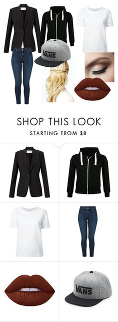 """""""Untitled #54"""" by charlotteupshaw on Polyvore featuring Finesse, Lemaire, J Brand, Lime Crime and Vans"""