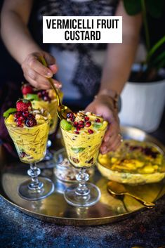 Holiday Recipes, Great Recipes, Favorite Recipes, Winter Recipes, Enchiladas, Fruit Custard, Summer Pudding, Brunch, Vegetarian Recipes