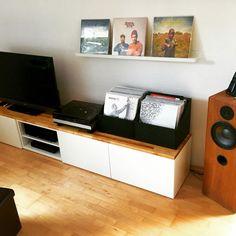 Stylish TV audio cabinet - IKEA Hackers Besta TV unit with Acacia ...