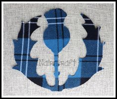 1 x7 inches high, Scottish Thistle Design, Tartan,Wool Fabric,Cut Out,Iron/Sew On,Applique by Nairncraft on Etsy