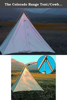 The Colorado Range Tent/Cowboy Tipi 10'x10'. The Colorado Range Tent/Cowboy Tipi and its proven design is the continued choice of the working ranch cowboy. It is also popular with campers who want a tent that sets up very easily and quickly. It has proven to be excellent shelter in bad weather. The Colorado Range Tent can be supported with an external pole set or the peak can be hung from a tree limb. (We recommend the external pole set.) Product Specifications: 2-way zipper with snap and...