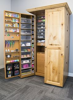 Cheap Craft Room Storage and Organization Furnitur. Cheap Craft Room Storage and Organization Furniture Ideas 5 Craft Room Storage, Craft Storage Cabinets, Craft Cabinet, Art Storage, Craft Organization, Organizing Ideas, Storage Ideas, Cabinet Ideas, Scrapbook Organization