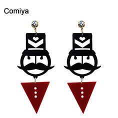 Payaso Comiya nuevo diseño de accesorios de la joyería para las mujeres de acrílico Pendientes de gota del encanto Grande Largo Cuelga El pendiente Del regalo Del Modelo