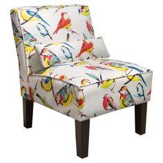Bird Print Chairs   Bird Accent Chair.   Interesting Things   Pinterest