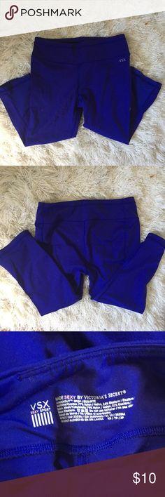VS Purple leggings. Size XS. Never worn. Perfect condition VS workout capris. Size XS. Deep purple color perfect for any type of exercise Victoria's Secret Pants