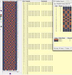 18 tarjetas, 2 colores, repite esquema cada 8 movimientos // sed_99 ༺❁