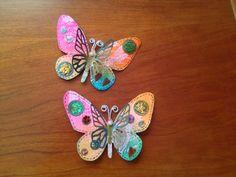 DECORACIÓN SCRAPERA: Broche de mariposa para Creativa