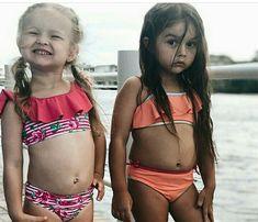 Little Girl Swimsuits, Kids Swimwear, Betsey Johnson, Little Girls, Button, Sexy, Bikinis, Fashion, Moda
