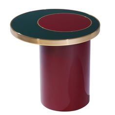 Side Table Nenuphar Red by Hervé Langlais