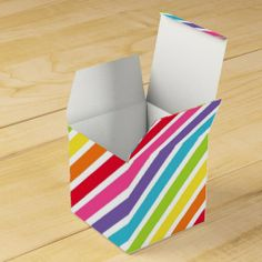 Rainbows Forever Personalized Wedding Favor Boxes