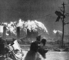 """shihlun: """" Never Again: Survivors fleeing the firestorm after the atomic bombing of Hiroshima on August 6, 1945. """""""