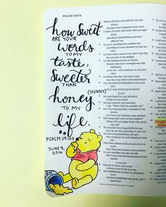 Winnie the Pooh Bible journaling