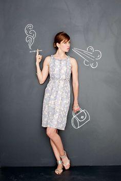 Chalkboard Life photographed by Shannon Greer Digital Art Photography, Girl Photography, Creative Photography, Mural Wall Art, Diy Wall Art, Chalk Photos, Blackboard Art, Mannequin Art, Interactive Walls